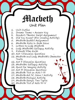 Macbeth: Entire Unit Plan