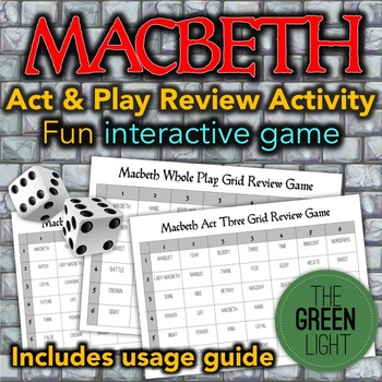 Macbeth Review Activity: Game, Group Work, Quiz, Bell-Ringer