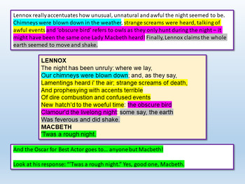 Macbeth Revision: Act 2 Scene 2