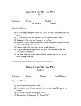 Macbeth Role Plays