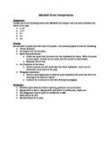 Macbeth Scene Interpretation/Analysis/One-Pager