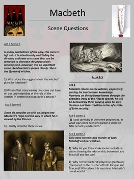 Macbeth - Scene questions and tasks