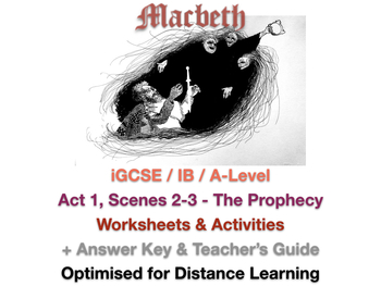 Macbeth Act 1 Scene 3 Worksheets & Teaching Resources | TpT