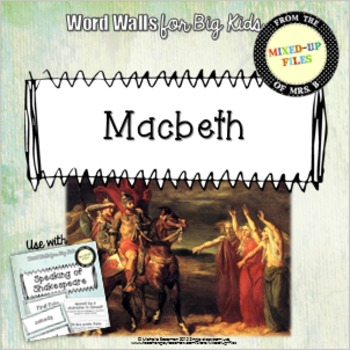 Macbeth Shakespeare Word Wall