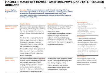 Macbeth: Shakespeare's Figurative Language