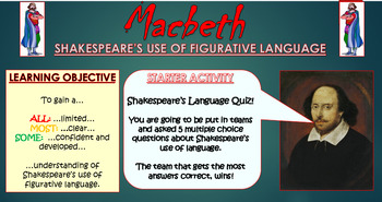 Macbeth: Shakespeare's Figurative Language