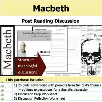 Macbeth - Socratic Method - Post Reading Discussions