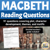 Macbeth Reading Questions/Study Guide