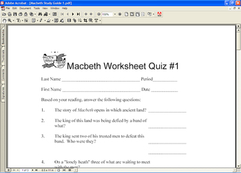 Macbeth Study Guides Test Exam Shakespeare