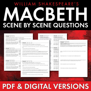 Macbeth Study Questions, Scene-by-Scene Questions for Shakespeare's Macbeth