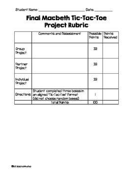 Macbeth TIc-Tac-Toe Project