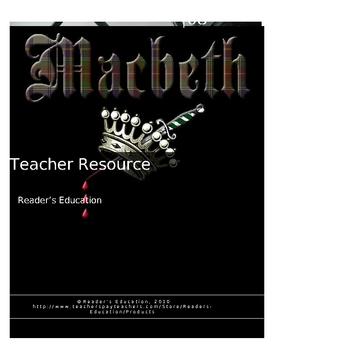 Macbeth - Teacher resource activities, essays, tests & answers & more