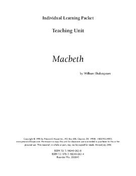 Macbeth Teaching Unit