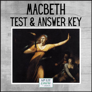 Macbeth ap teaching resources teachers pay teachers macbeth test answer key short answer quote analysis short essay fandeluxe Gallery