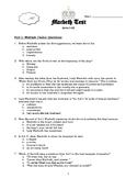 Macbeth Test and Key