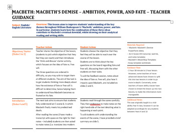 Macbeth: The Demise of Macbeth - Ambition, Power, and Fate