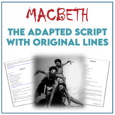 Macbeth - The Script - Distance Learning Ready!