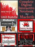 Macbeth Unit Bundle-Lessons, Assessments, Interactive Note