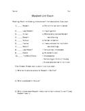 Macbeth Unit Exam