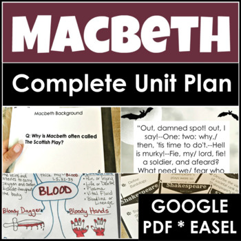 Macbeth Unit Plan With Four Weeks of Engaging Lessons & Activities
