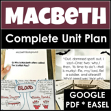 Macbeth Distance Learning Unit Plan With Four Weeks of Les