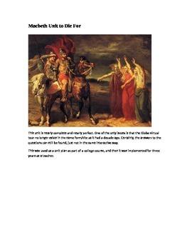 Macbeth Unit to Die For