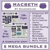 Macbeth Mega Bundle: Background, Comprehension, Analysis, & Project Materials