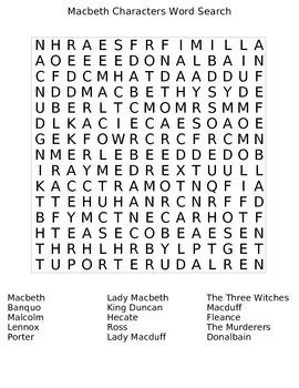 Macbeth Word Search