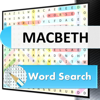 Macbeth Word Search Puzzle