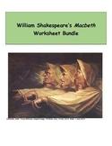 Macbeth Worksheet Bundle (Includes Vocabulary)