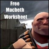 Macbeth Worksheet: Make Your Own Graphic Novel - Macbeth Lessons