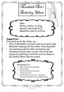 Macbeth act 1 (Adapted) and activities