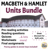 Macbeth and Hamlet Unit Bundles (Shakespeare)