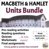 Macbeth and Hamlet Unit Bundles (Shakespeare)
