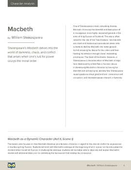 Macbeth as a Dynamic Character (Act II, Scene i) Lesson Plan