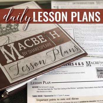 Macbeth by Shakespeare: Teaching Unit BUNDLE