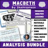 Macbeth Unit Bundle: Introduction Materials, Analysis Activities, & Project