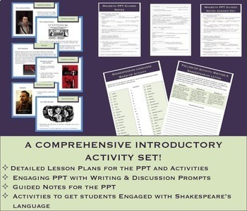 Macbeth Unit Bundle: Introduction Materials, Analysis Activities, & Project