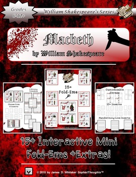 Macbeth by  William Shakespeare Interactive Character Fold-Ems