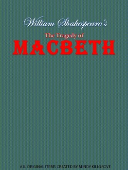 Macbeth by William Shakespeare Study Unit (Editable)