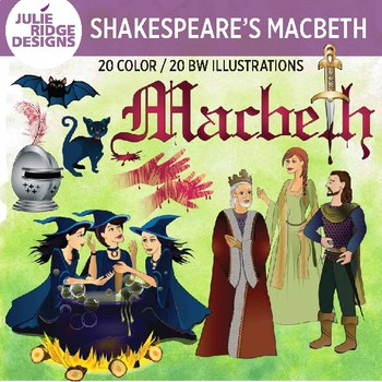 Shakespeare: Macbeth clip art — 40 illustrations