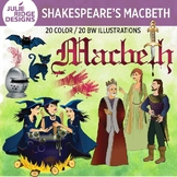 Shakespeare: Macbeth clip art — 40 illustrations