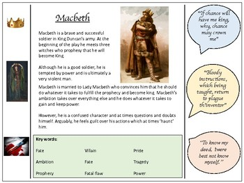 Macbeth - detailed character profiles