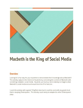 Macbeth is the King of Social Media