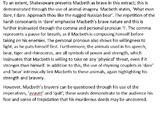 Macbeth Example Essay Response - End of Term / Semester Test