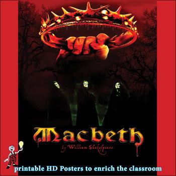 Macbeth: eye catching Shakespeare poster