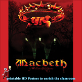 Macbeth: eye catching Shakespeare poster