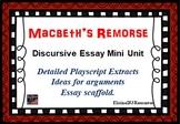 Macbeth's Remorse Essay Writing Mini Unit of Work