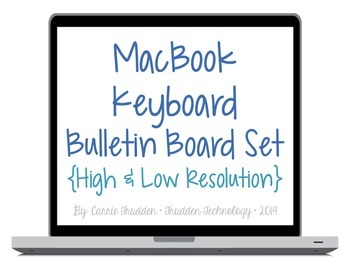 Macbook Keyboard Bulletin Board Set {High & Low-Res}