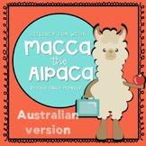 Macca the Alpaca - Australian A4 size